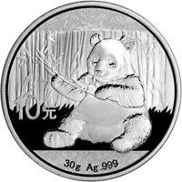 2017 China Silver Panda (30 g) 10 Yuan - BU in Original Capsule