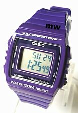CASIO W215H-6A DIGITAL SPORTS Men's Ladies Teens Quartz Watch Alarm Purple Resin