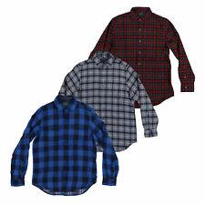 Polo Ralph Lauren Para Hombre Franela Camisa a cuadros con botones Prendas para el torso Nuevo Nuevo Con Etiquetas