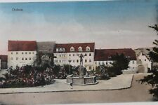 30037 AK Dohna bei Pirna Platz mit Häusern und Brunnen 1928
