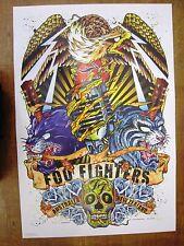 FOO FIGHTERS 2008 AUSTRALIA NEW ZEALAND CONCERT TOUR POSTER ART RHYS COOPER