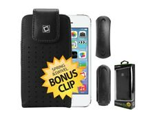 For iPhone 5S / 5C / 5 Teramo Leather Case Cover with Spring and Swivel Clip