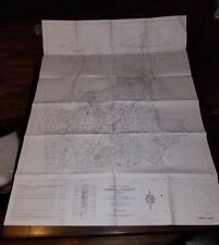 """Pre-owned ~ CARROLL COUNTY, GA General Highway Map (2008, 36"""" x 48"""", set of 3)"""