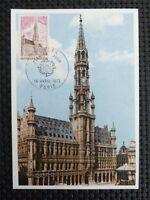 FRANCE MK 1973 EUROPA CEPT BRÜSSEL RATHAUS MAXIMUMKARTE MAXIMUM CARD MC CM c3982