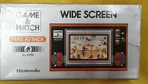 GAME and WATCH - FIRE ATTACK Hand Held Console with Original Box & Manual