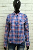 Camicia ABERCORMBIE Donna Taglia M Maglia Blusa Shirt Cotone Manica Lunga Quadri