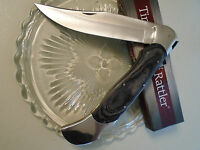 "Timber Rattler Giant Scarab Folding Lock Back Bowie Pocket Knife 18"" TR99 Pakka"