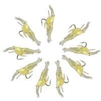 9Pcs Soft Shrimp Fishing Bait Worm Lures Hook Crankbaits Hooks Baits Tackle Lot