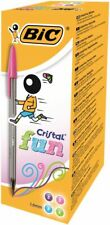 Bic Cristal Fun Colours Ballpoint Pens 1.6mm Nib Mixed Colours Pack 20 Pens