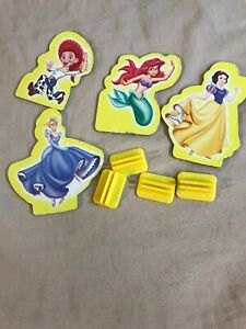 Sorry 2001 Disney Edition Replacement Parts Pieces ~ Yellow Tokens Set of 4
