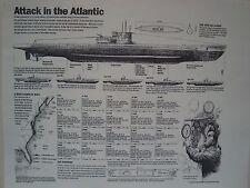 U-BOAT TYPE IXC GERMAN SUBMARINE PLAN ATTACK IN THE ATLANTIC UNTERSEEBOOT 1942