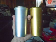 2x Vintage Colormet Aluminum Drinking Cup, Silver  Gold color Made in Italy