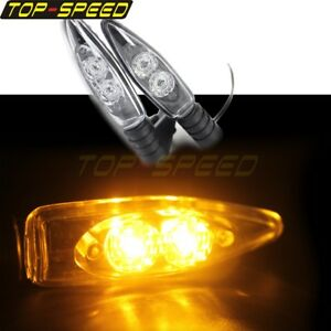 2PCS Clear Turn Signal Light Bulbs Lamp For BMW K 1200R 1200S K 1300R 2005-2008