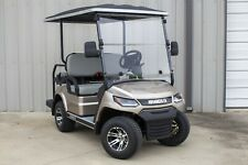 """New listing New 2022 Champagne / Gray 48V Electric Golf Cart 4 Passenger 2"""" Lifted Discs"""