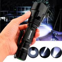 20000LM C8 Tactical Military CREE T6 LED Rechargeable Zoomable Flashlight Torch