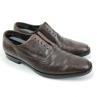 John Varvatos Brown Leather Wingtip Oxford Dress Shoes Size 9 Lace Up Vibram