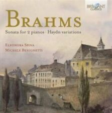 BRAHMS: SONATA FOR 2 PIANOS; HAYDN VARIATIONS NEW CD