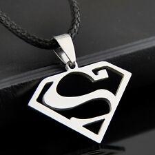 cool man boy Stainless Steel Superman logo Pendants Necklace ST83