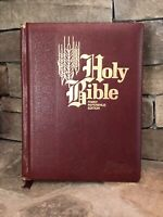 HOLY BIBLE Family Reference Edition Red Letter 1971 Nelson King James Burgundy