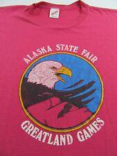 Vintage ALASKA STATE FAIR Greatland Games Vacation Souvenir Soft T Shirt Size XL