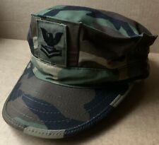 US ARMY WOODLAND TYPE II CAMO 8 POINT WORKING UTILITY CAP HAT, PO2, MEDIUM