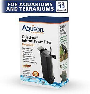 Aqueon QuietFlow AT10 Internal Power Filter for Aquarium up to 10 Gallons