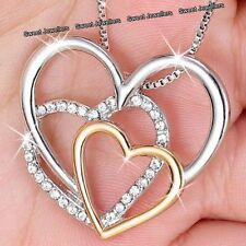 MOTHERS DAY DEALS Rose Gold & Silver Heart Locket Necklace Gifts For Her Mum Mom