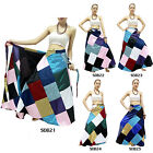 Skirt SDB21-25 Silk Blend Thailand Patchwork Long Wrap Sarong Boho Gypsy Hippie