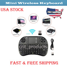 2.4Ghz USB Mini Wireless Keyboard Air Fly Mouse Touchpad For Android TV BOX PC