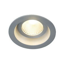 Intalite IP44 Downlight BOOST IP44 9W downlight, round , silver, 9W LED, 3000K