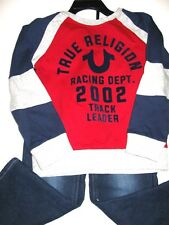 NWT TRUE RELIGION BOYS 2PC SET: adjustable Jeans & Shirt, SZ 4 kids