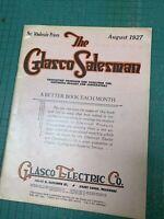 The Glasco Salesman Electric Co Saint Louis MO August 1927 Catalog Antique