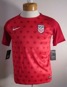 NWT Nike USA Team 2018/2019 Pre-Match Youth Soccer Jersey XL Speed Red MSRP$55