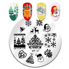 Nail Art Stamp Templates Image Christmas Theme Stamping Plate Born Pretty DIY