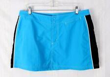 LL Bean 14 L size New Skirt Turquoise Blue Black Nylon Beach Summer Outdoor Surf
