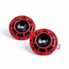 Red Super Loud Compact Electric Blast Tone Horn for Motorcycle Chopper 12V car