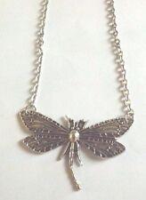 collier chaine argenté 48 cm libellule