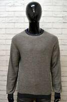 Maglione a Righe Uomo MARLBORO CLASSICS XL Pullover Cardigan Sweater Man Felpa