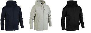 Mens PLUS BIG SIZE Plain Zip Up Hoody Hooded Sweatshirt Hoodie Zipper Top2XL-7XL