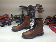 VINTAGE RED WING USA BROWN LEATHER LACE UP WORKCHORE HUNTING TRAIL BOOTS 8M