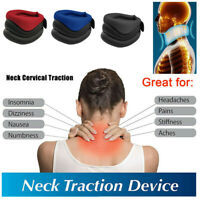 Neck Collar Support Cervical Traction Device Brace Sponge Pain Relief Therapy