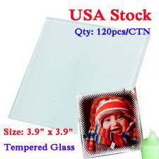 Us Stock 120pcs 39 X 39 Square Sublimation Blank Glass Coaster Diy Frame