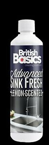 500ml British Basics Lemon Sink Fresh Kitchen Bathroom Deoderiser Freshener  BB