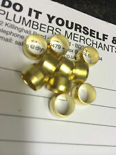 10 x 8mm BRASS COMPRESSION OLIVES PLUMBING