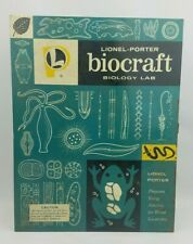 "Vintage 60s Lionel Porter Biocraft Biology Lab EMPTY Metal Box ~ 10.5"" x 13.5"""