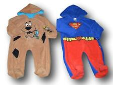 SCOOBY DOO & SUPERMAN HOODED FLEECE INFANT BABY SLEEPER JUMPSUIT COSTUME 3-6M