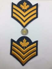 2 Canadian Military Blue Air Force Sergeant Shoulder Insignia Patch