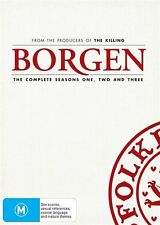 BORGEN - SEASONS 1-3, THE COMPLETE (10 DVD SET) BRAND NEW!!! SEALED!!!