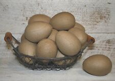 12 Unfinished Paper Mache EGGS  - They will sit on a table w/out rolling
