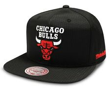 Black Chicago Bulls Cap NBA Mitchell & Ness Ripstop Snapback Cap - New One Size